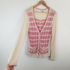 Anthropologie Sparrow Ivory Button Down Cardigan